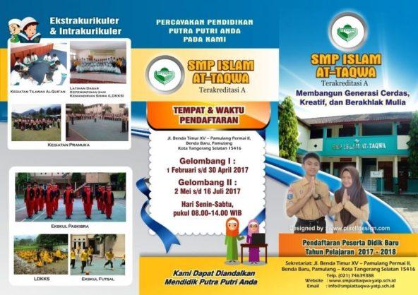 contoh desain brosur sekolah