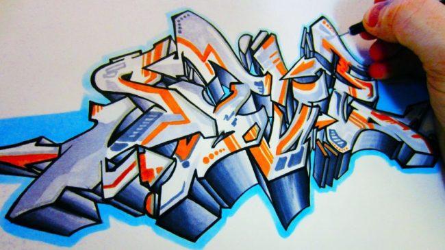 cara membuat grafiti