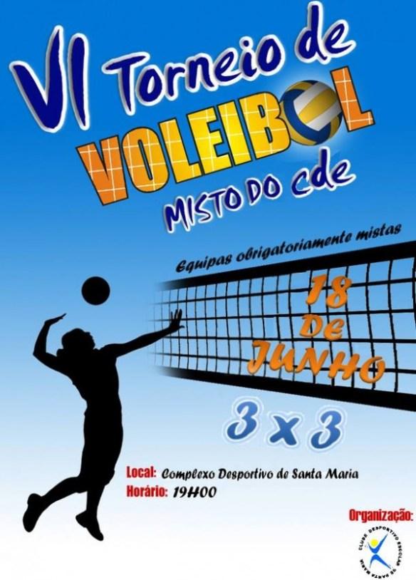 VI Torneio de Voleibol Misto CDE