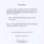 Associação LPAZ Assembleia Geral Extraordinária | 9 de dezembro 2015