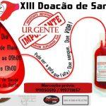 XIII Doação de Sangue