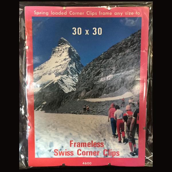 Frameless Swiss Corner Clips