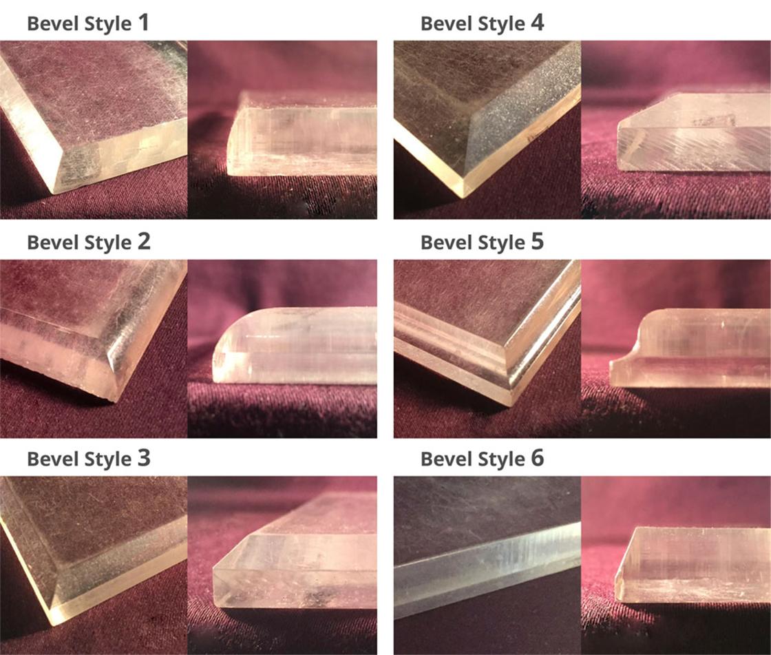 Beveled & Polished Straight Edges