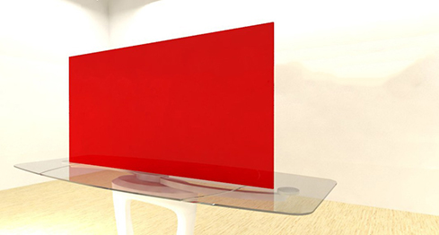 Acrylic Sheets – Cut To Size –  Opaque Chili Red – S2415