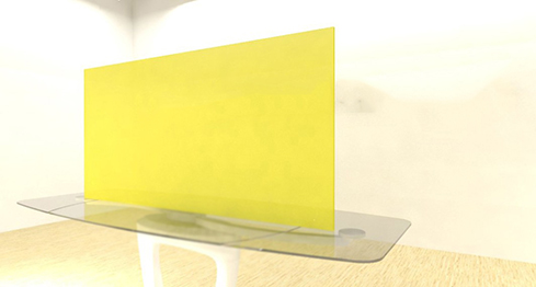 Acrylic Sheets – Cut To Size –  Fluorescent Yellow – S9096