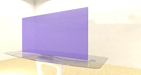 Acrylic Sheets – Cut To Size –  Transparent Heather Purple – S370