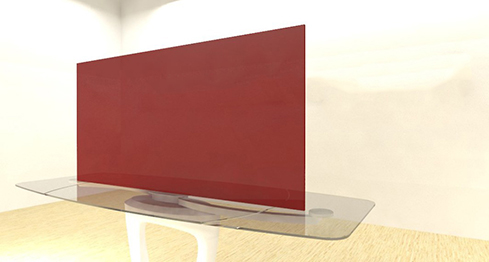 Acrylic Sheets – Cut To Size –  Transparent Red – S2423