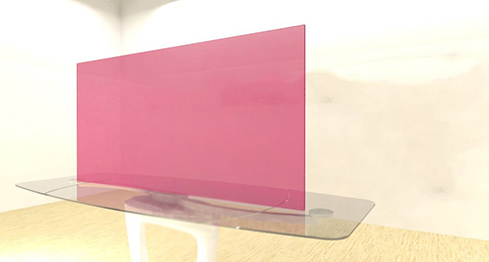 Acrylic Sheets – Cut To Size –  Transparent Rose Pink -156