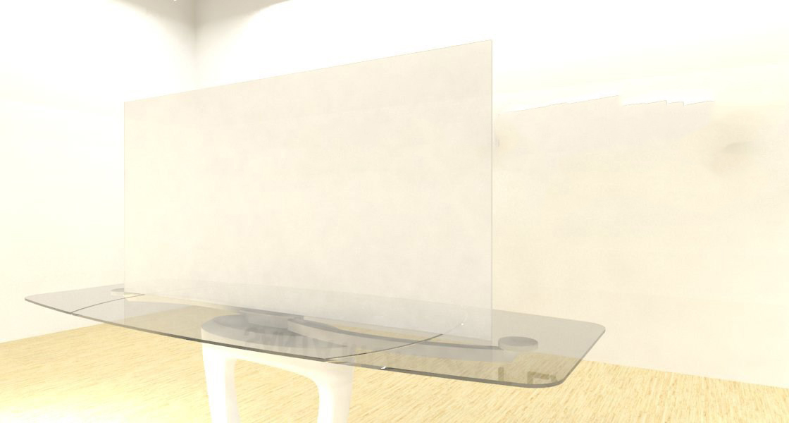 Acrylic Sheets – Cut To Size –  Frosted Transparent Clear/White – SS422