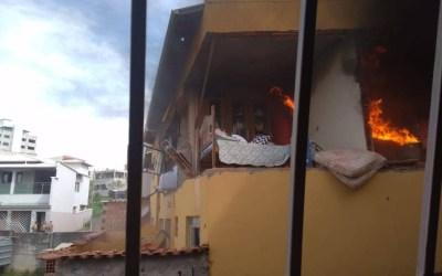 Explosão deixa cinco feridos em Itaguara