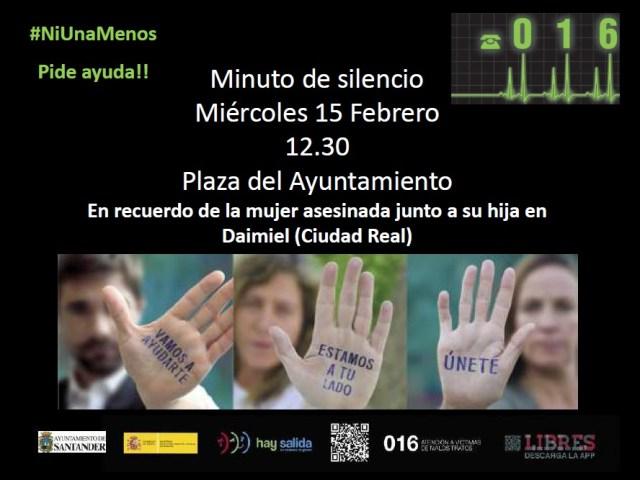 Minuto de silencio por la mujer asesinada junto a su hija en Daimiel (Ciudad Real)