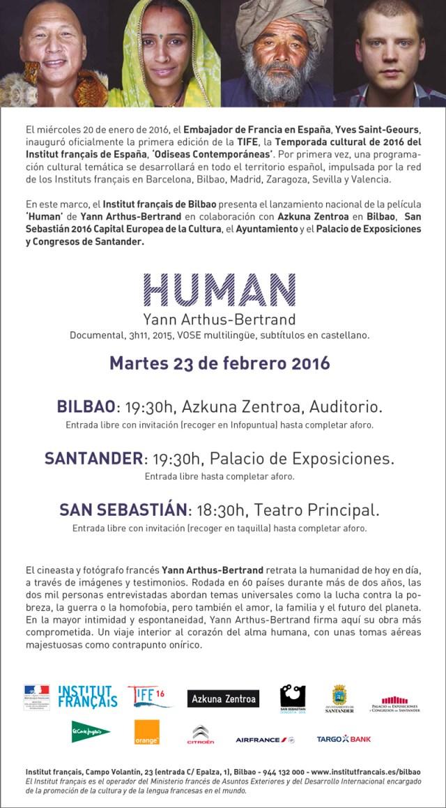 Santander acogerá el lanzamiento nacional de HUMAN gracias al Institut français de Bilbao