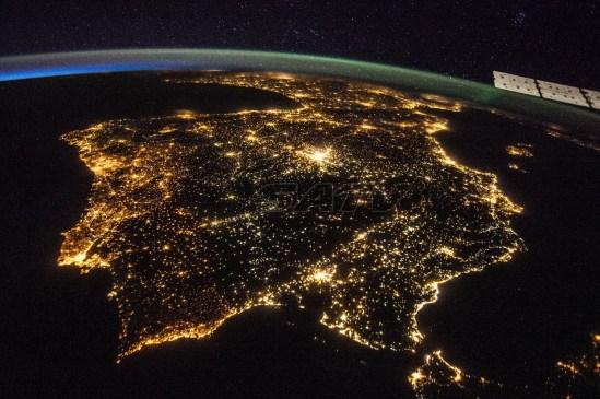 Vista de la Península Ibérica desde el espacio. Foto Nasa