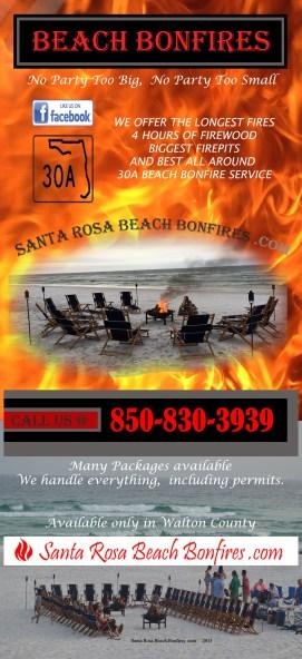 Santa Rosa Beach Bonfires 2015 Rack Card