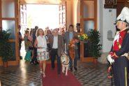 Entitats socials com l'ONCE també han participat en l'ofrena // Marc Pidelaserra
