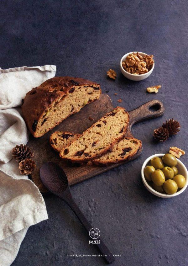 Cuisiner au levain à IG bas _ pain aux olives _ santé et gourmandise