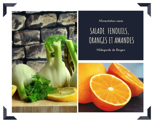 Salade fenouil, oranges, amandes