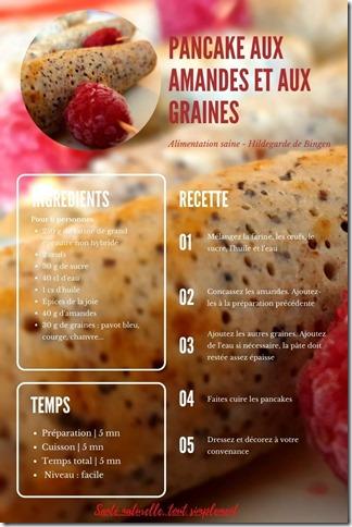 Pancake aux amandes et aux graines. Recette pour un apéro sain et gourmand cet été
