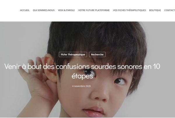 Confusions sourdes sonores orthophonie