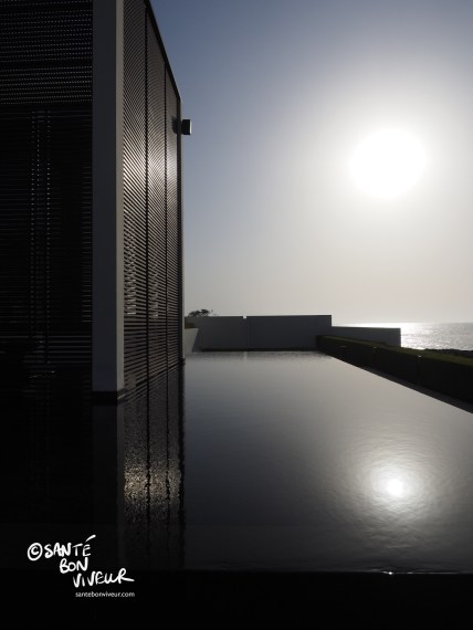 The Chedi's exquisitely serene infinity pool, overlooking the Gulf of Oman
