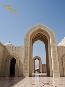 Inner courtyard at the Grand Mosque