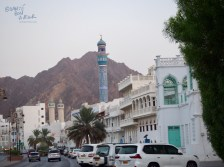 The backdrop of rocky hills is one of the things that make's Muscat views so stunning