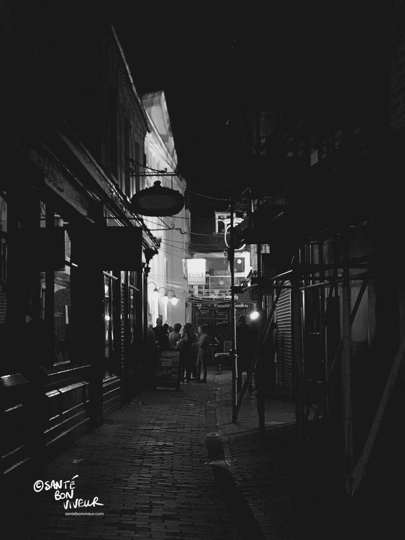 The sophistication and atmosphere of The Lanes takes on a different character by night