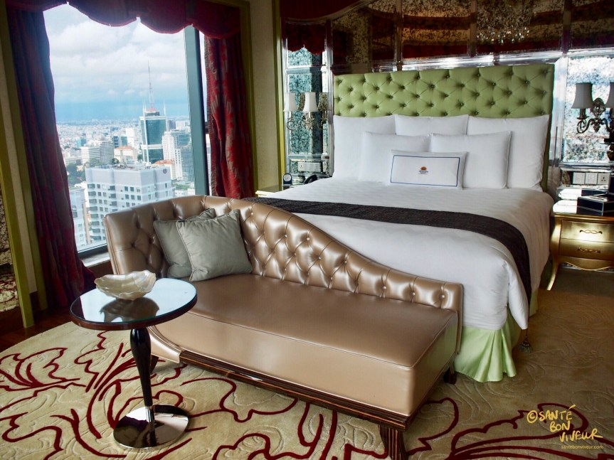 Bedroom with Panoramic View, Floor 32, The Reverie Saigon Hotel, Ho Chi Minh City, Vietnam, 2017