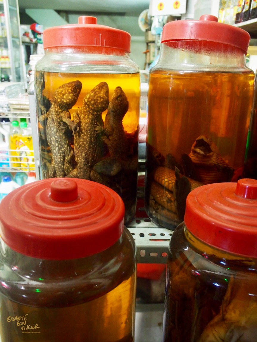 Lizard Wine & Snake Wine in a Shop in District 4, Ho Chi Minh City (Saigon), Vietnam, 2017