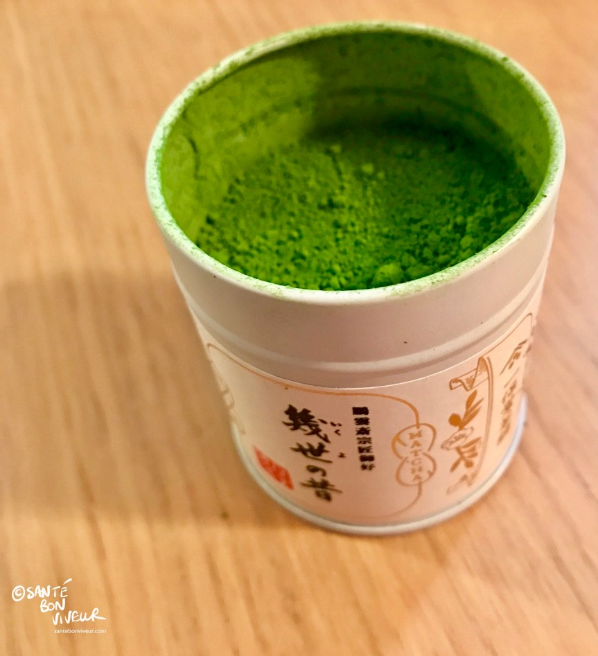 Tin of Top Quality Matcha Green Tea from the Ippodo shop in Kyoto, Japan, 2017