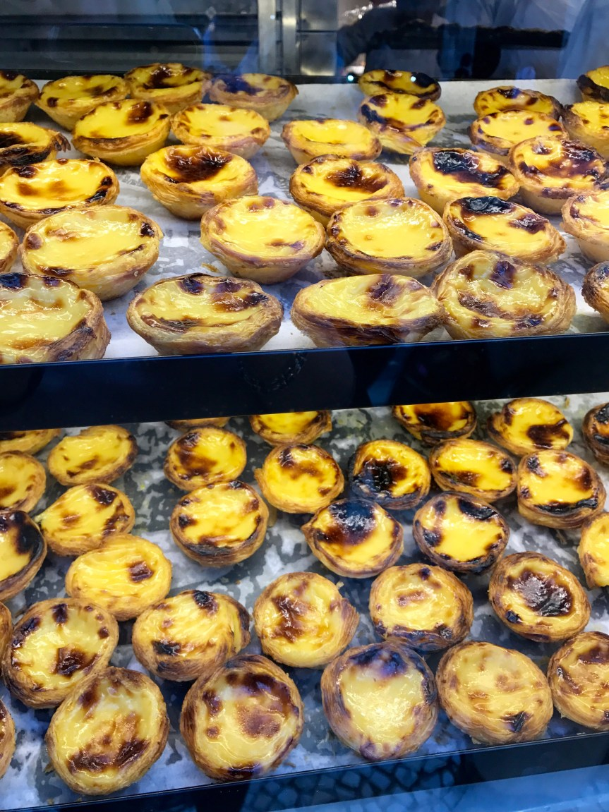 Portuguese foodie nirvana - pasteis de nata in a bakery in Lisbon