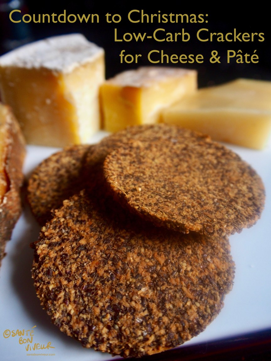 5-Ingredients Low-Carb Crackers for Cheese & Paté
