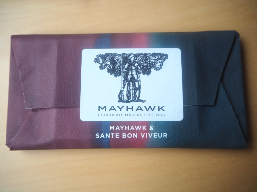 Limited Edition Santé Bon Viveur Competition Chocolate Bars from Mayhawk. Craft Chocolate Making