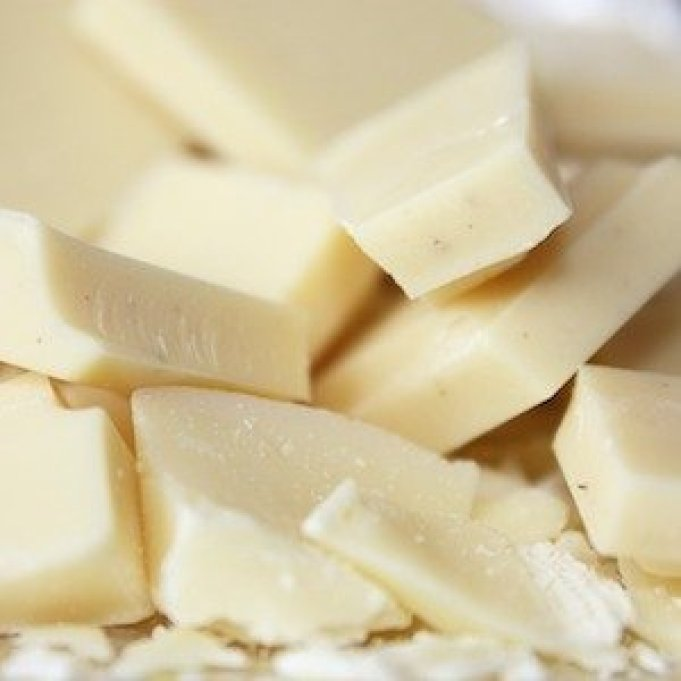 Pure cocoa butter. Photo credit: Caribbean Cacao on Amazon.com. Ingredients in chocolate