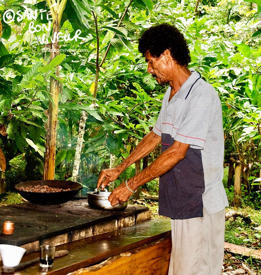 Chocolate maker at the Chocolate Museum, Limón Province, Costa Rica
