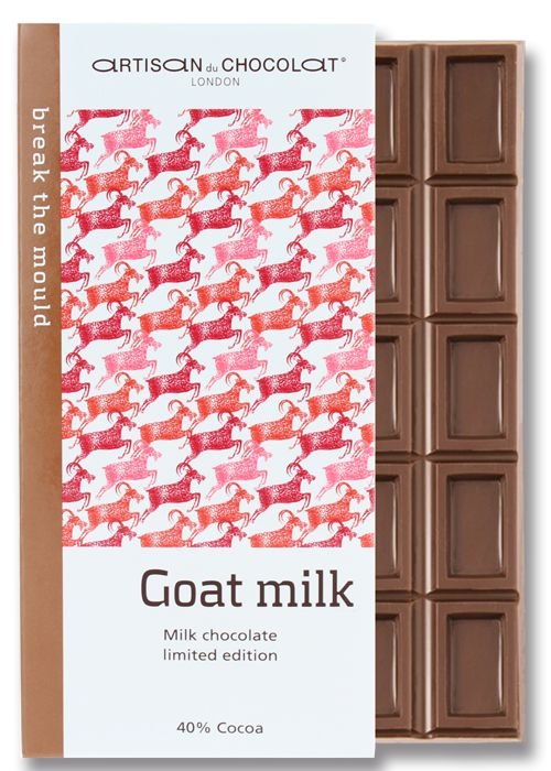 40% Goat Milk chocolate bar by Artisan du Chocolat. Quirky Milks & Sweeteners in Craft Chocolate