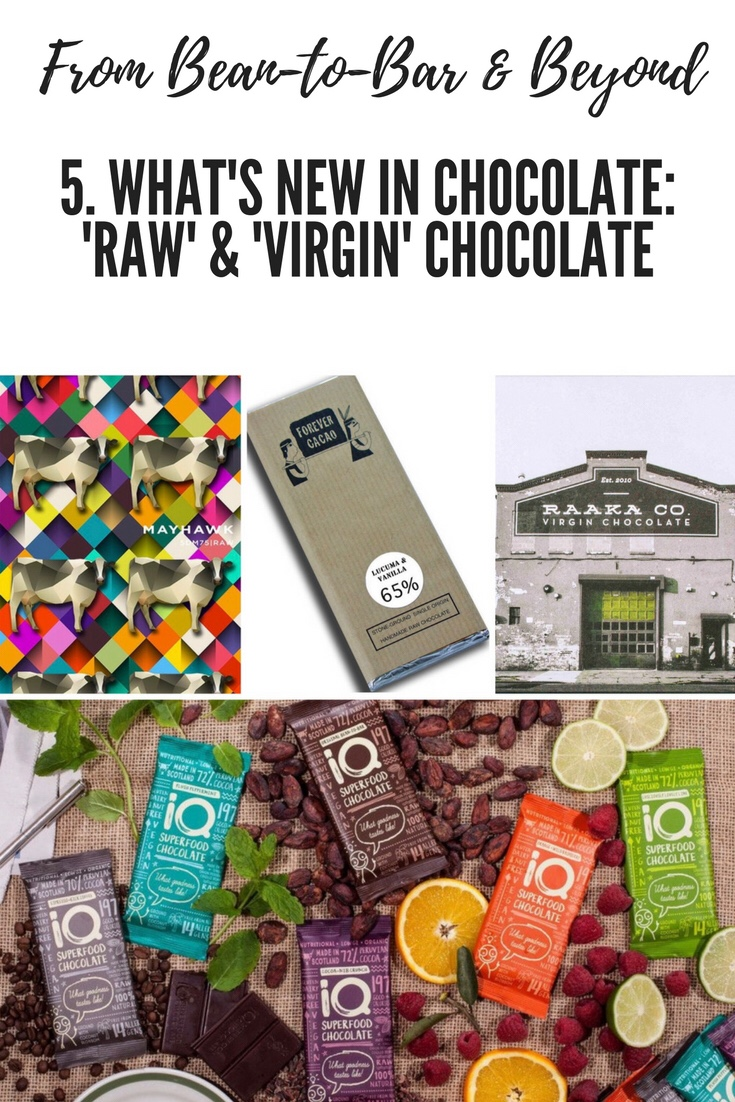 From Bean-to-Bar & Beyond 5. What's new in chocolate: raw and virgin chocolate
