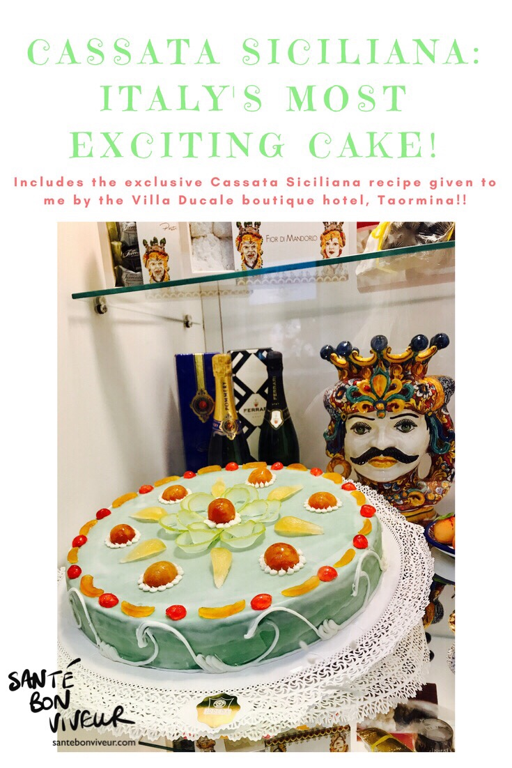 Cassata Siciliana – Italy's most exciting cake! Includes the exclusive recipe given to me by the Villa Ducale boutique hotel, Taormina, Sicily