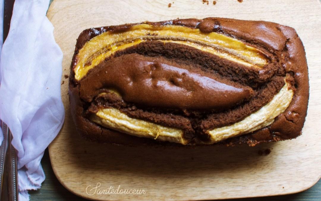 Banana Bread à la caroube sans gluten