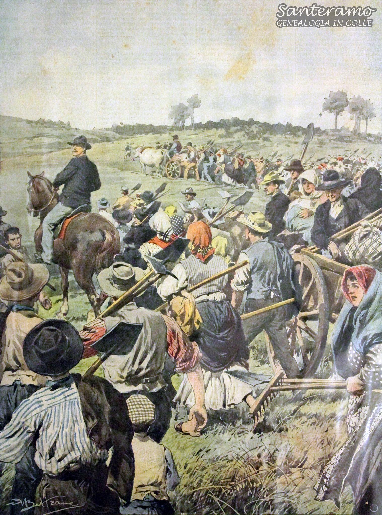 I contadini occupano le terre