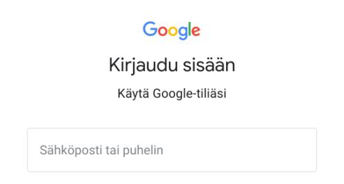 Kirjaudu Google-tilillä