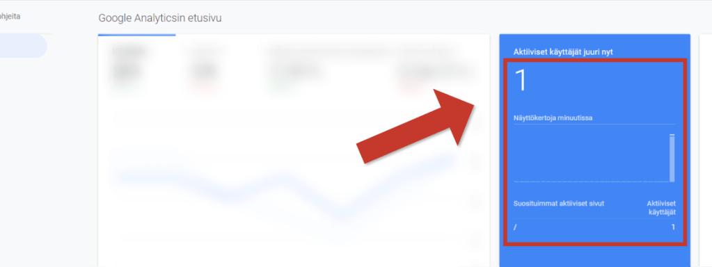 Google Analytics reaaliaikaiset käyttäjät