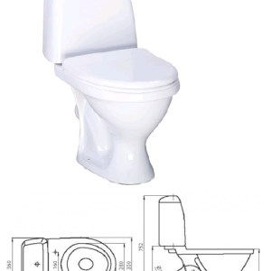КОМПАКТ (Соната) белый (арм+сиденье) Воротынск