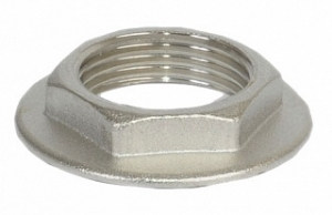GF Контргайка  1 1/2 (с ребордой) никель