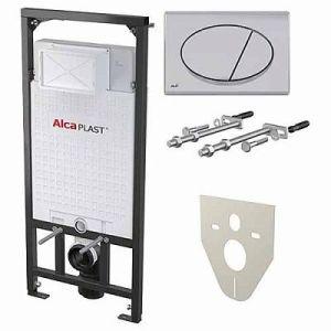 Инсталяция  ALCAPLAST с панелью Хром М071 (к-т 4в1)
