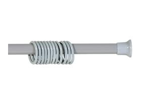 Карниз для ванны 120 – 210  (серый) с кольцами