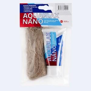 Паста уплотн.сантехнич. Aquaflax nano, 30гр.+ 15гр.лён