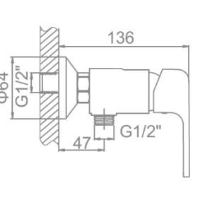 Ledeme L5244 Настенный+гигиен/душ