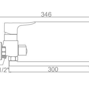 Ledeme L2234 Ванна (дл/нос)