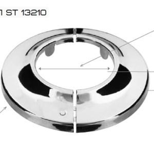 Отражатель ST 132  1″ разъемный хром